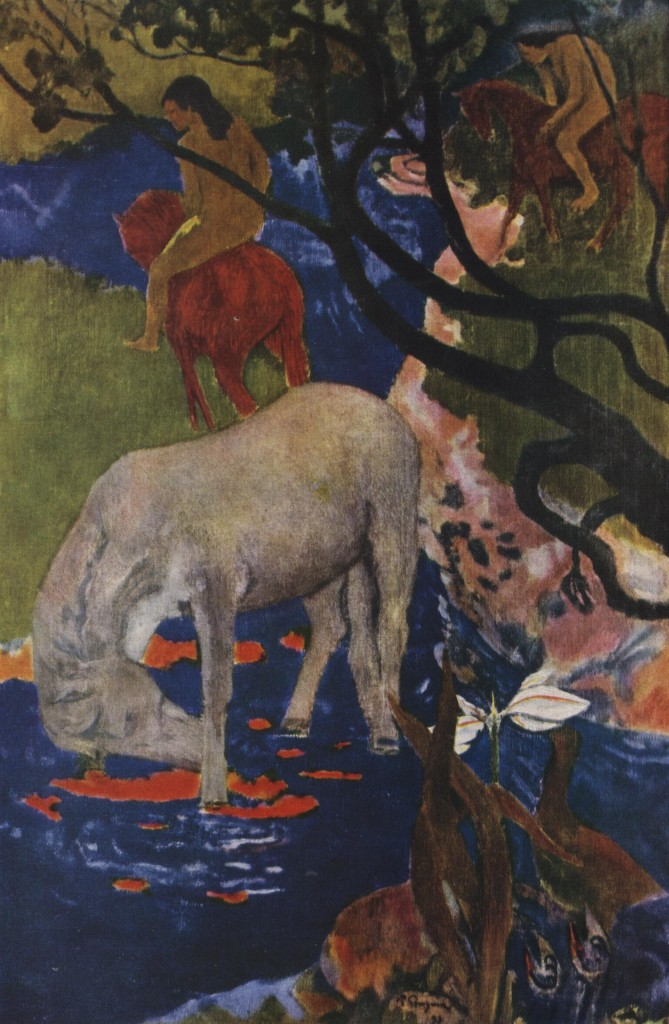Paul_Gauguin_-_Le_cheval_blanc