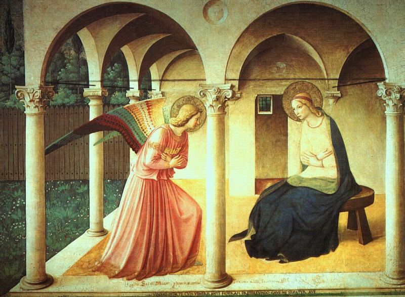 """Fra Angelico, L""""annonciation, 1438-45"""