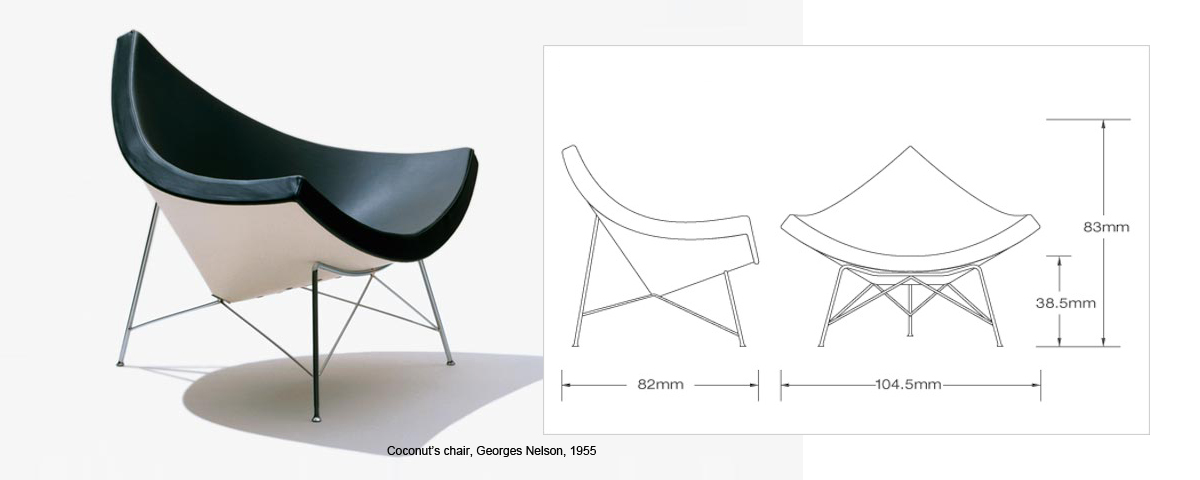 Coconut's chair Georges Nelson, 195(