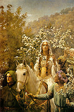 Guinevere maying, John Collier, 1900