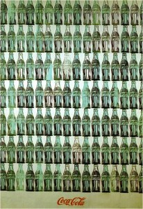 Andy WARHOL, Bouteilles de Coca-Cola vertes, 1962, huile sur toile, 209,6 x 144,8 cm, Whitney Museum of American art, New York.