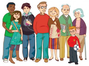 Family members and clothes