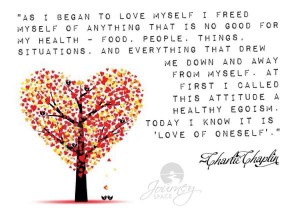 Charlie Chaplin AS I began to love myself