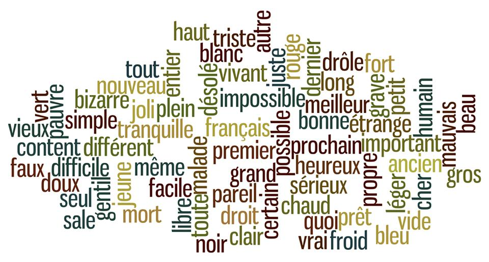 Adjectifs courants