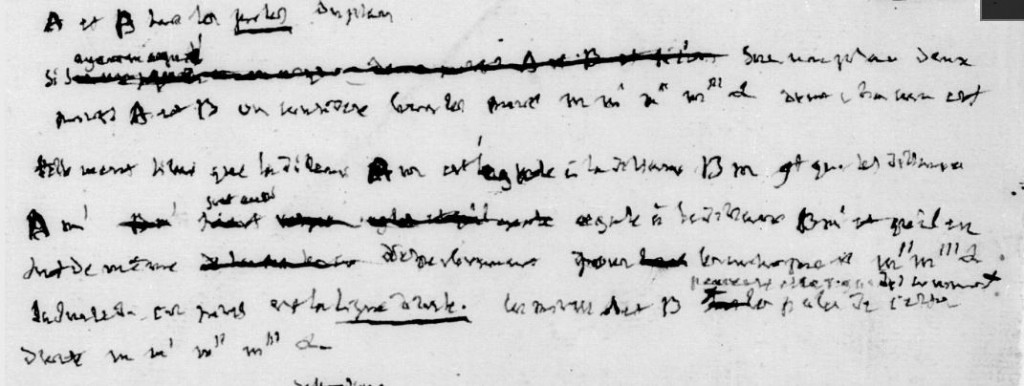 manuscrit de Joseph Fourier