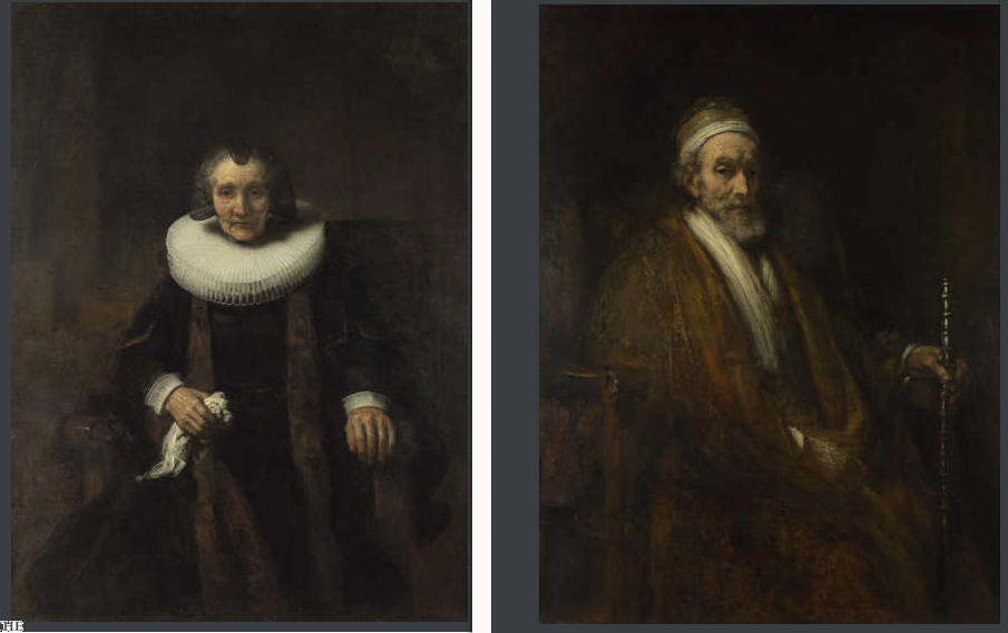 Jacob Trip et Margherita Geer vers 1661 130x97cm londres National gallery