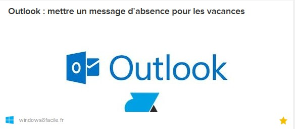 outlook message vacances