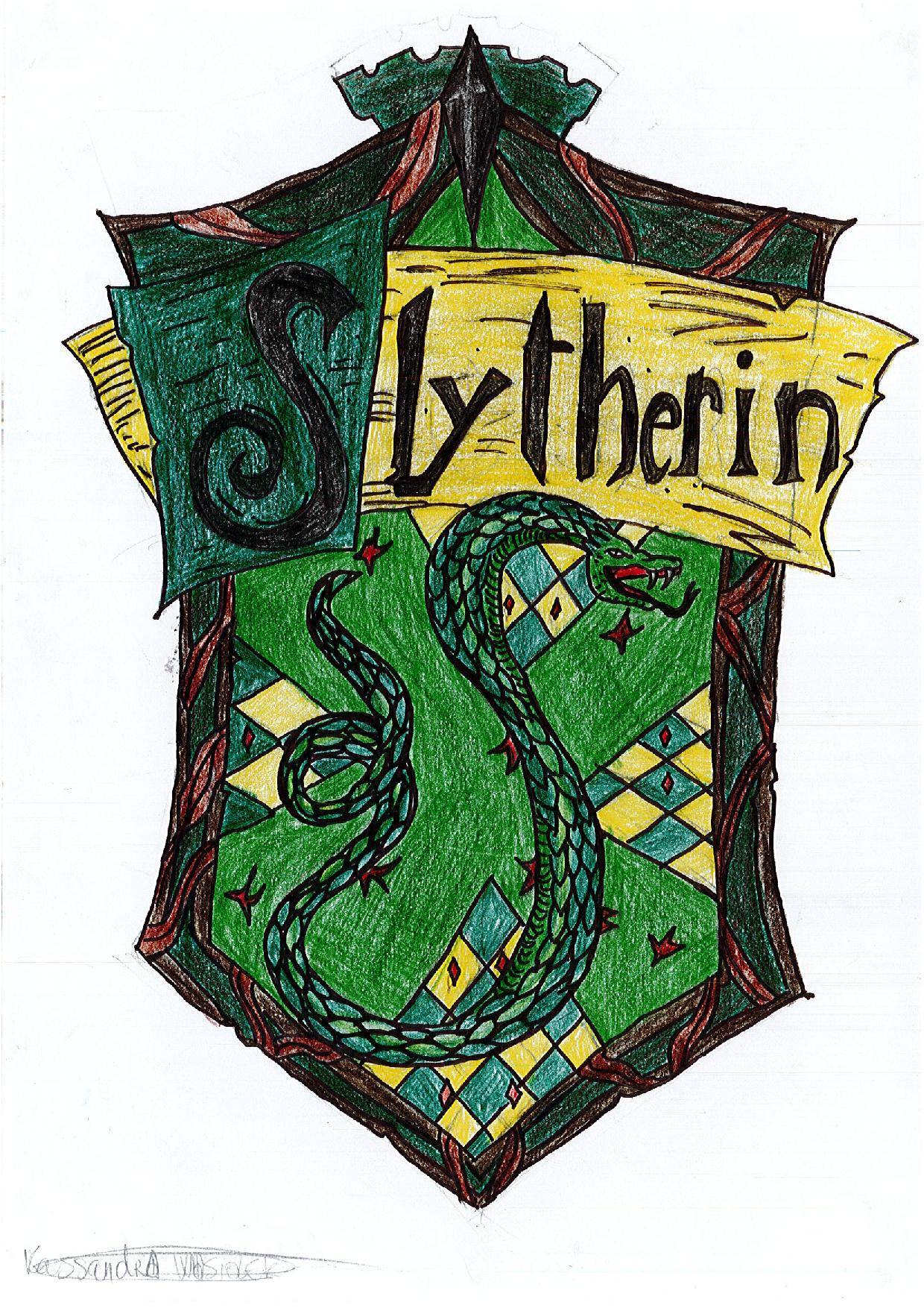 Blason serpentard harry potter par kassandra info liziniat - Harry potter blason ...
