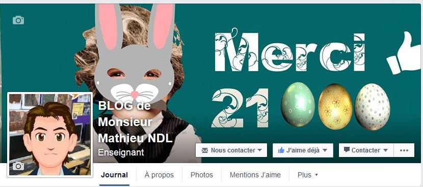 page facebook du Blog de Monsieur Mathieu