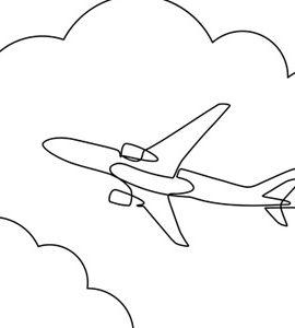 dessin d'avion dans le ciel