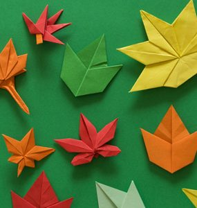 feuilles mortes en origami