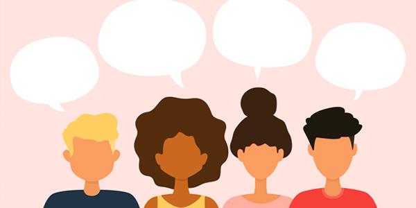 groupe de jeunes qui parlent