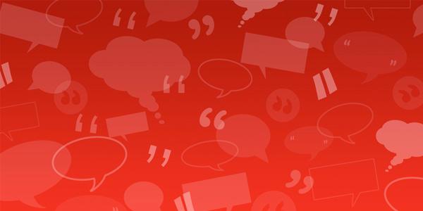 Bulles de discussion et guillemets