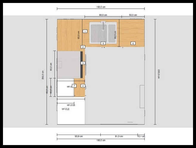 Plan amenagement cuisine les derni res for Amenagement cuisine carree