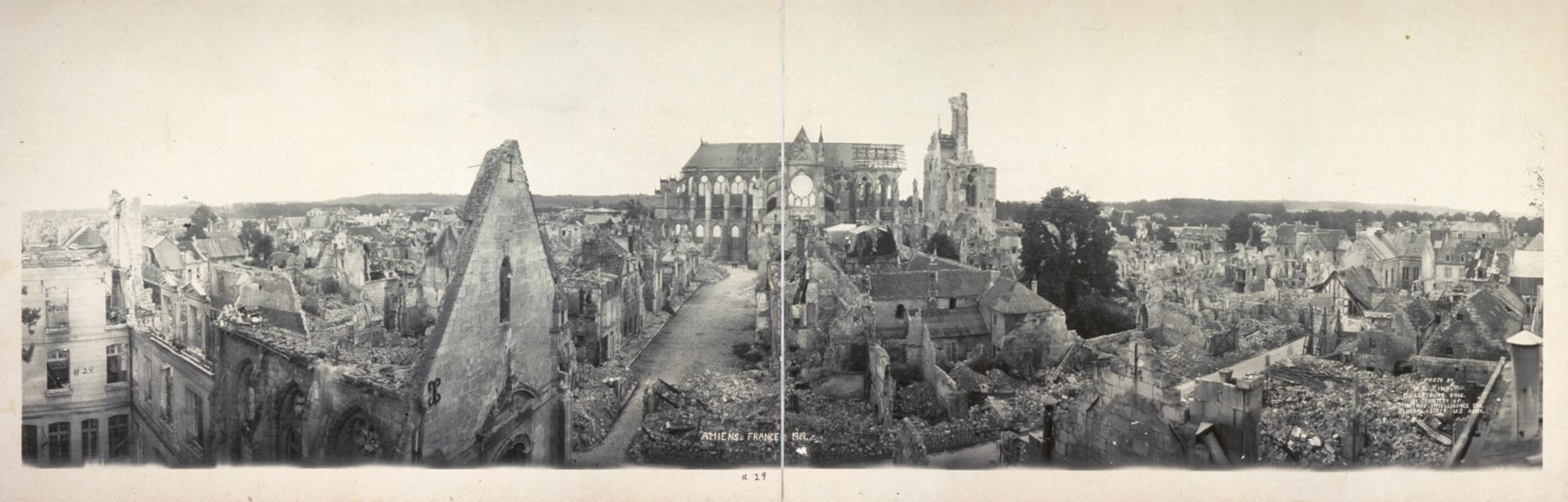 Amiens France  city photos gallery : Amiens France 1919 panorama