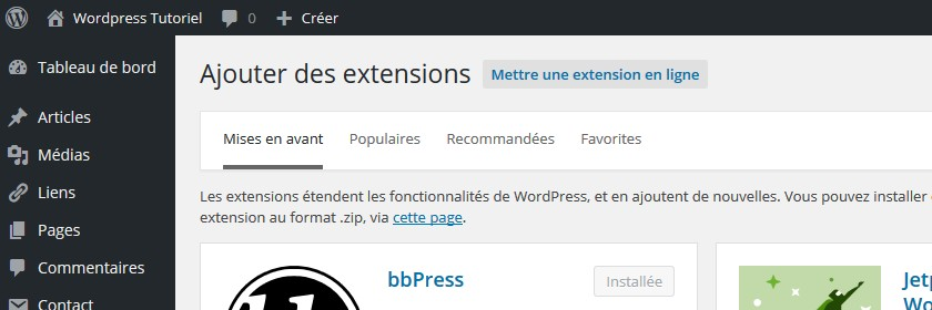 extensions wordpress