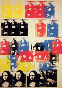 WARHOL, ANDY                    Mona Lisa; 1963, silkscreen ink on synthetic polymer paint on canvas, 319.4 x 208.6 cm, New York (NY, USA): Blum Helman Gallery.