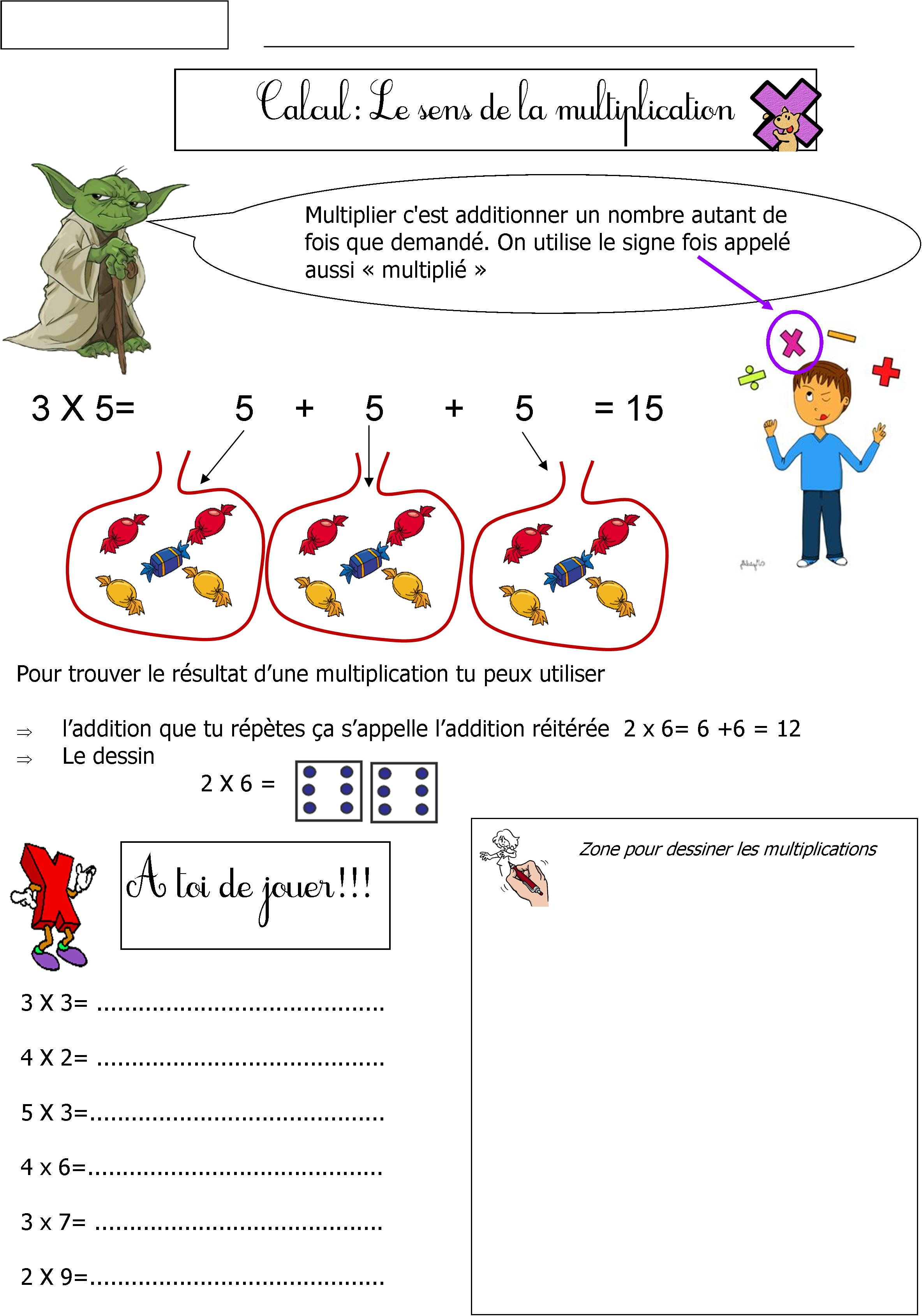Math matiques ce1 blog de monsieur mathieu gs cp ce1 ce2 cm1 for La table du multiplication