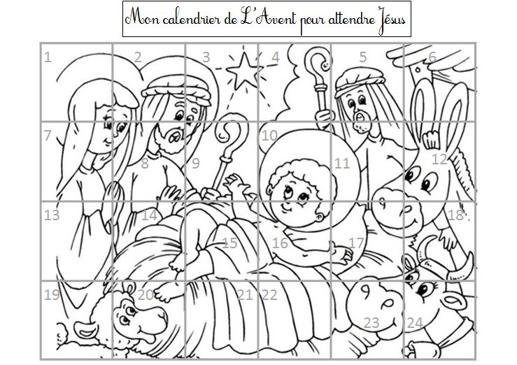 Education aux religions blog de monsieur mathieu gs cp - Coloriage calendrier de l avent ...