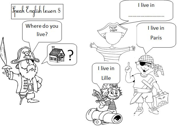 how to answer where do you live in english