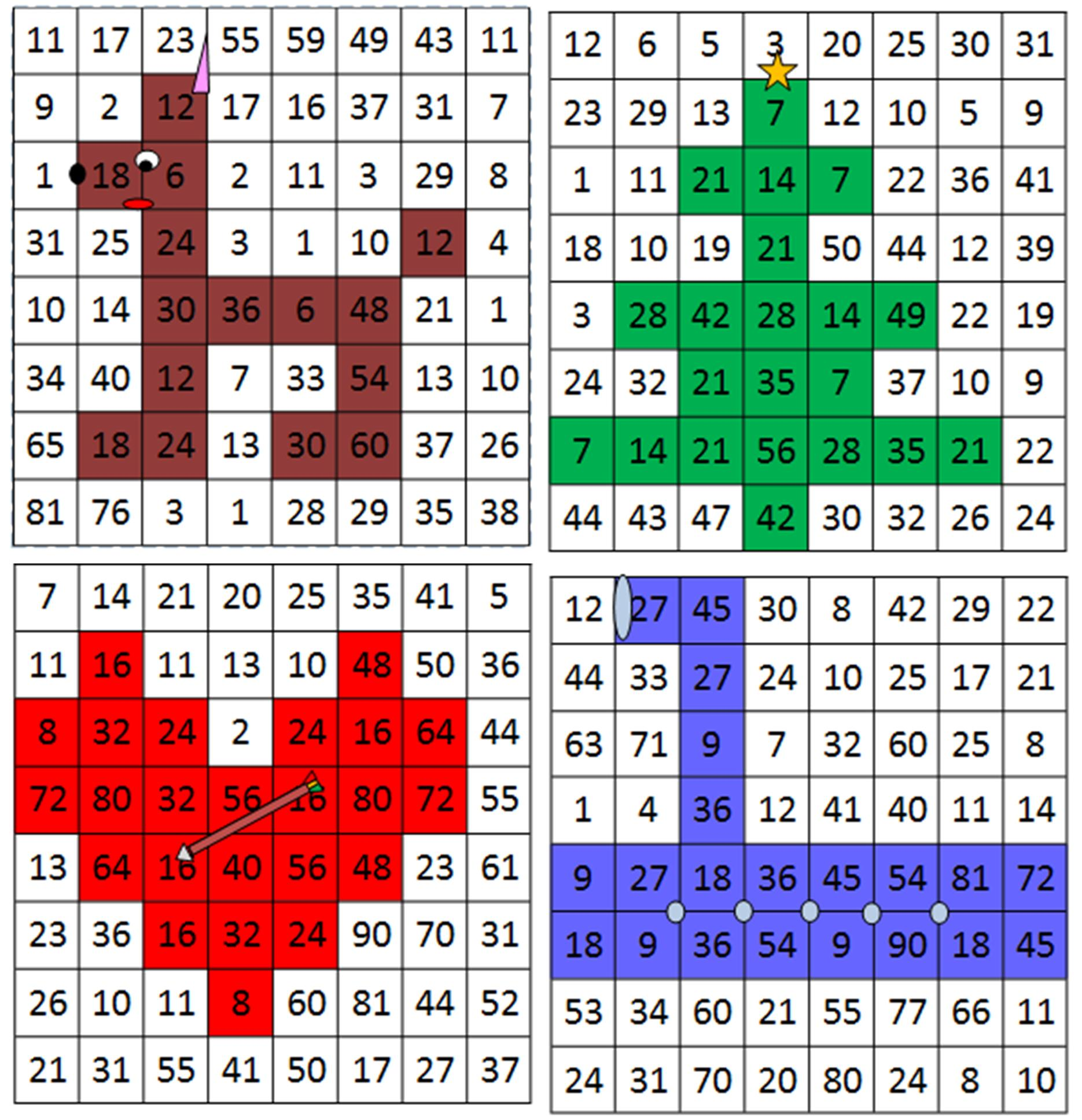 Exercice table multiplication 3 4 5 fiches d exercices - Apprendre les tables de multiplications en s amusant ...