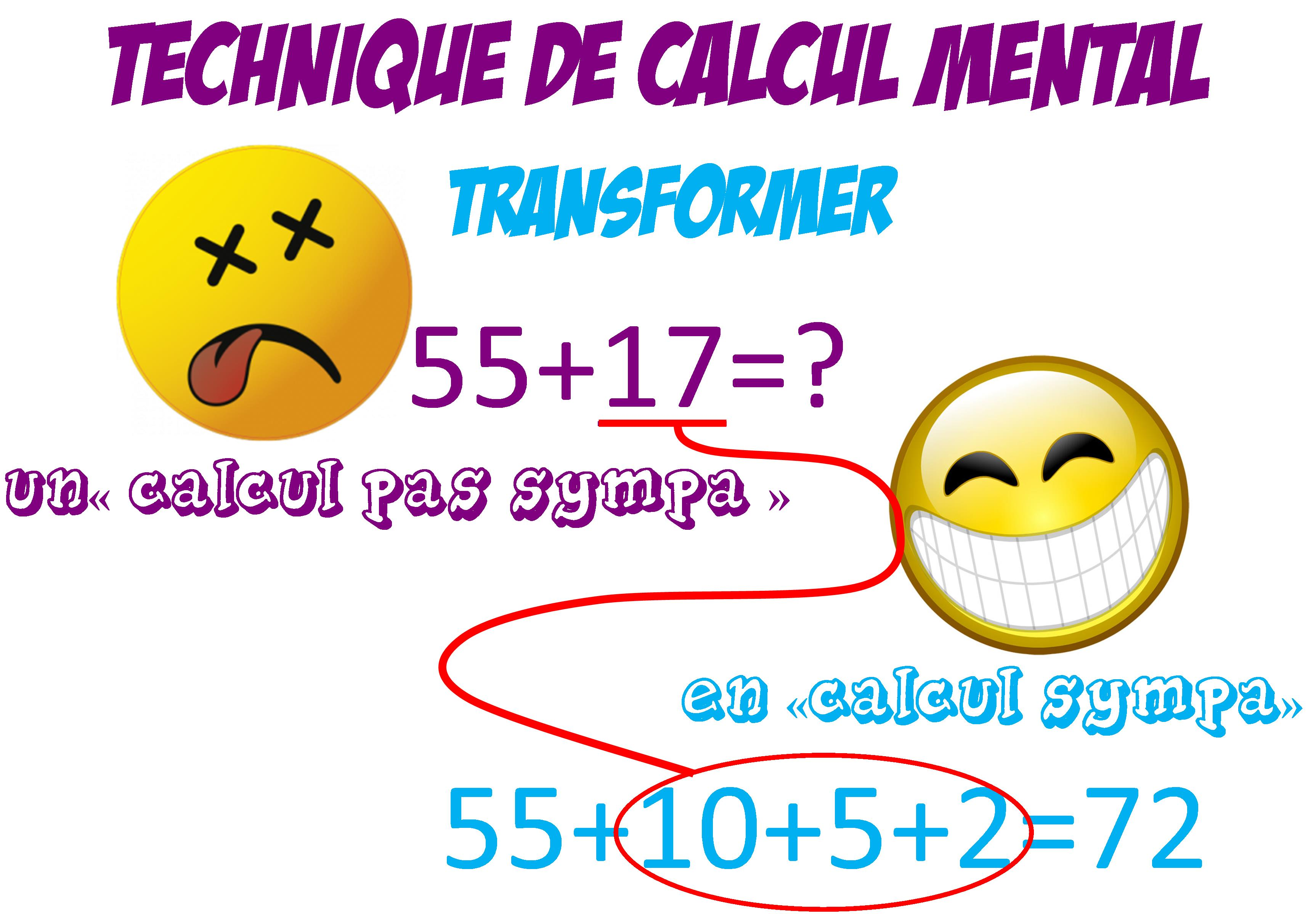 Technique de calcul mental le blog de monsieur mathieu - Calcul mental ce2 a imprimer ...