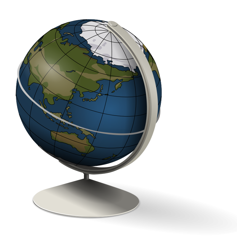 Les exercices interactifsSpinning Globe Clip Art